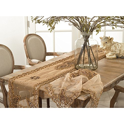 Fennco Styles Handmade Beaded Design Table Runner - 2 Sizes