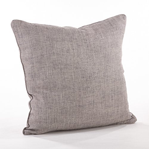 "Fennco Styles Home Décor Piped Edge Denier Throw Pillow - 20"" Square (100% Linen)"