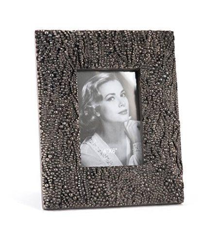 Fennco Styles Beaded Decorative Photo Frame, 2 Colors