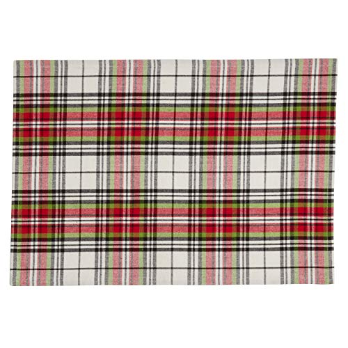 Fennco Styles Classic Plaid Design Tabletop Collection
