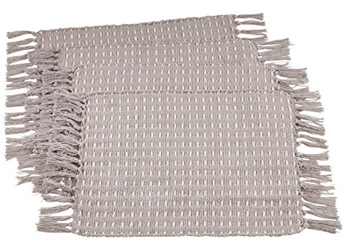 Fennco Styles Waffle Weave Macrame 14 x 71 Inch 100% Pure Cotton Table Runner - Ivory Table Cover for Dining Table, Banquets, Wedding and Home Décor