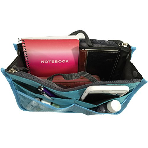 StyleILove Nylon Multi Pocket Cosmetic Badget Insert Purse Organizer