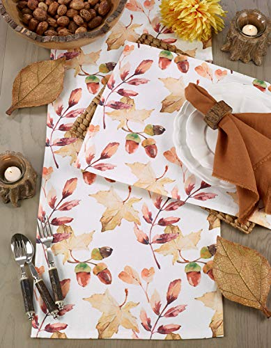 Fennco Styles Autumn Cottage Fall Accent Table Linens