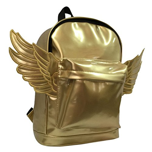 StylesILove Chic Kids Mini Gold Angel Wings Silver Backpack