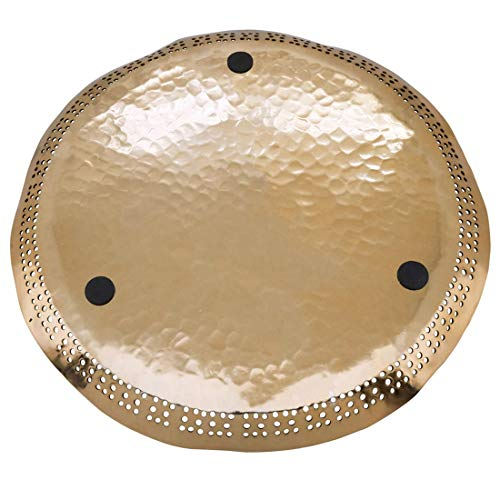 "Fennco Styles Hole Punched Decorative Charger Plates 14"" Round, Set of 4"