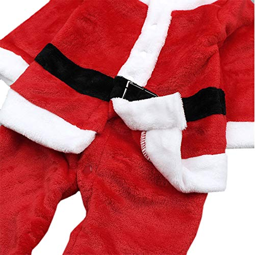 Baby Boys Xmas Santa Claus All-in-one Costume Romper Outfit + Hat 2-pc Outfit