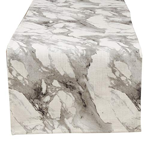Fennco Styles Marmo Collection Glamorous Marble Print 16 x 72 Inch Table Runner - Varity Color Table Runner for Banquets, Dinner Parties, Special Events and Home Décor