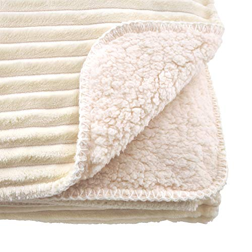 Fennco Styles Sevan Collection Modern Velvet Ribbed Stitch Wrap 50 x 60 Inch Sherpa Throw – Variety Color Throw Blanket for Couch, Bedroom and Living Room Décor