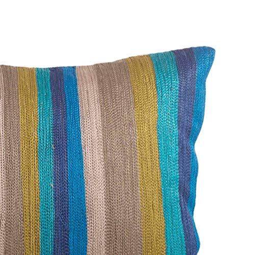 Fennco Styles Parti-Color Collection Modern Striped College 100% Pure Cotton 12 x 20 Inch Decorative Throw Pillow