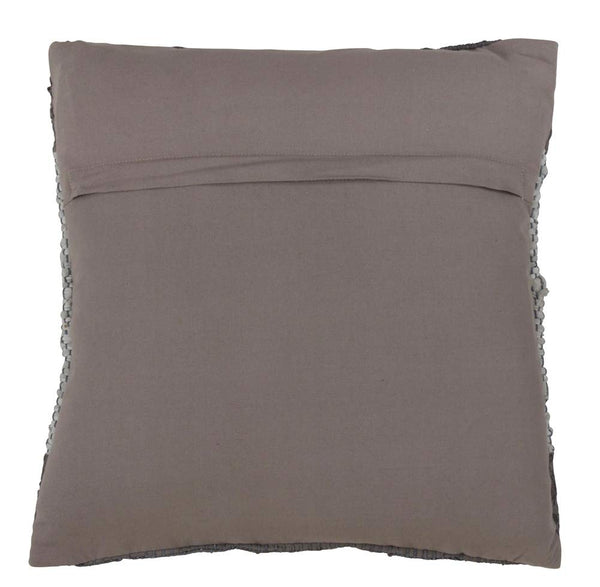 Fennco Styles Two Tone Leather Chindi 18 Inch Down Filled Decorative Throw Pillow - Modern Grey Bordered Cushion for Couch, Sofa, Bedroom, Office and Living Room Décor