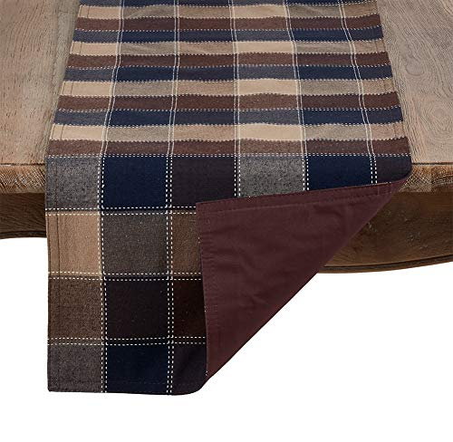 Fennco Styles Holiday Thanksgiving Stitched Plaid Tablecloth, Table Runner, Napkins