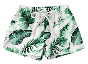 Styles I Love Baby Toddler Tropical Palm Leaves Swim Shorts