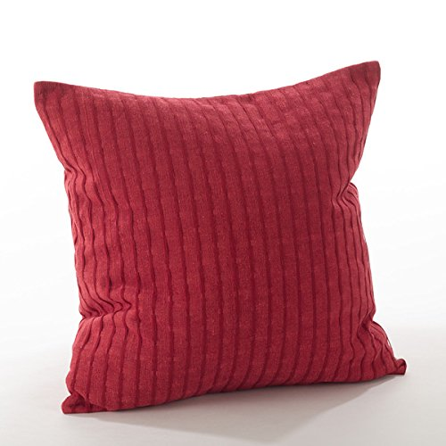 Fennco Styles Rorie Collection Classic Design Down Filled Cotton Throw Pillow - 2 Sizes