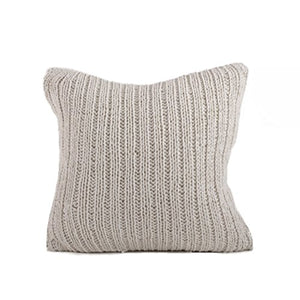 Fennco Styles Darcy Knitted Down Filled Throw Pillow, 20-inch Square
