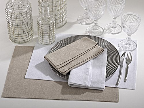 Fennco Scintilla Classic Shimmering Cotton Placemat, Set of 4