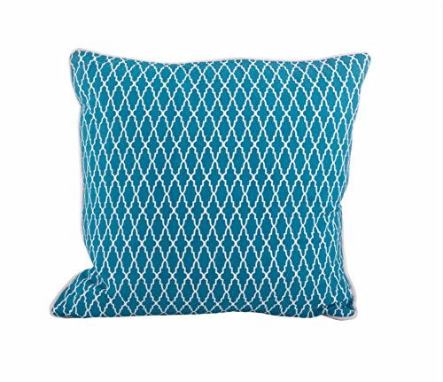 Fennco Styles Las Palmas Collection Modern Abstract Quatrefoil 100% Pure Cotton 18 x 18 Inch Throw Pillow with Case & Insert – Variety Color Pillow for Couch, Bedroom and Living Room Décor