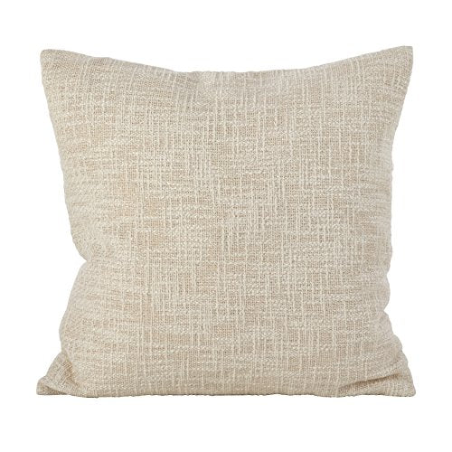 Fennco Styles Woven Metallic Design Lure Cotton Down Filled Throw Pillow