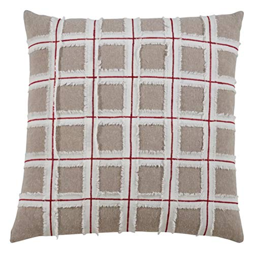 Fennco Styles Chic Frayed Window 100% Cotton Decorative Throw Pillow 16 x 16 Inch