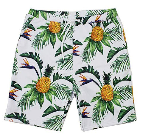 Styles I Love Summer Family Matching Swimwear Pineapple Print Swim Trunks Beach Pool Swim Shorts