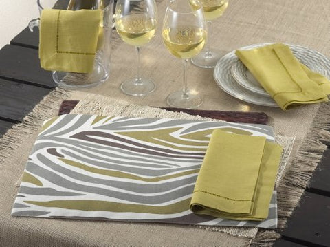 "Chic Zebra Design Traycloth Placemat, 13""x19"" Rectangular, Set of 4"