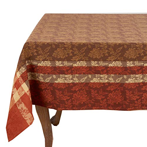 Fennco Styles Thanksgiving Holidays Autumn Leaves Print Cotton Tablecloth