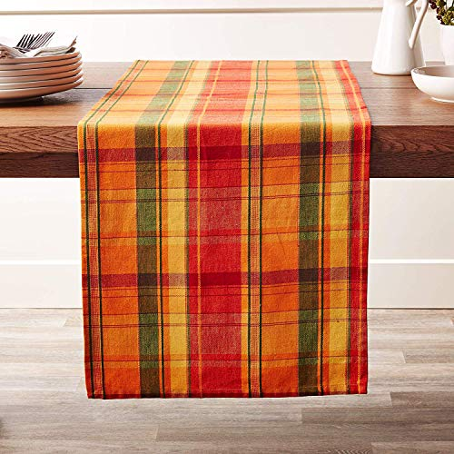 Fennco Styles Harvest Collection Rustic Tartan Design 100% Cotton 16 x 72 Inch Table Runner