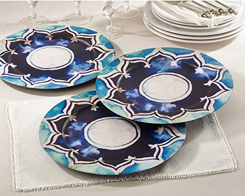 "Fennco Styles Decorative Collection Design 14"" Charger Plate-Set of 4"