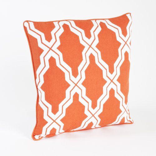 Fennco Styles Moroccan Design Decorative Throw Pillow, Down Filler Included, 18-inch Square