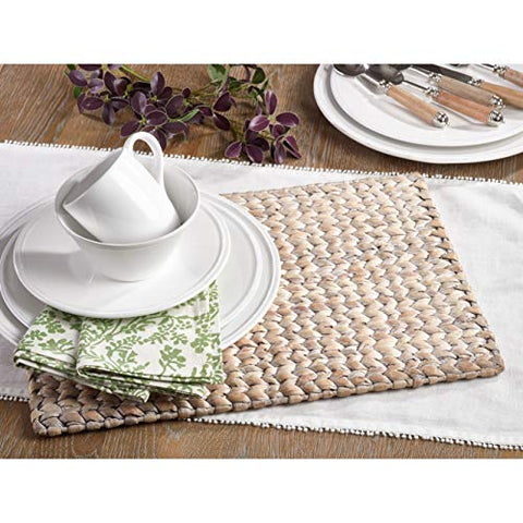 "Fennco Styles Hand Woven Water Hyacinth Placemat 14""x19"" Retangular"