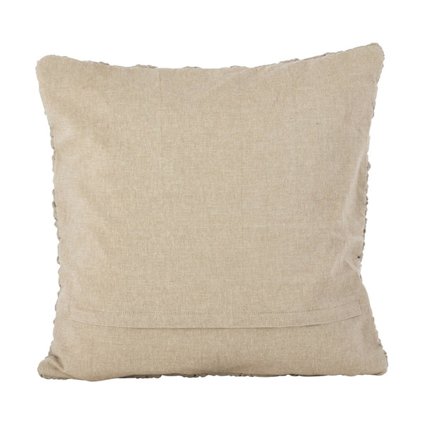 Fennco Styles Knotted Strands Cotton Down Filled Decorative Throw Pillow