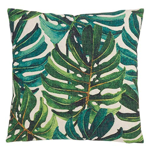 Fennco Styles Home Indoor Outdoor Décor Tropical Print Throw Pillow