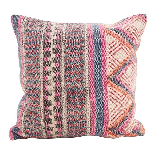 Fennco Styles Bohemian Mix 18 Inch Square Cotton Down Filled Decorative Throw Pillow