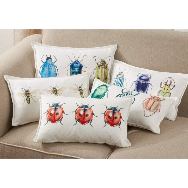 "Bugs Design 12""W x 20""L Decorative Throw Pillow"