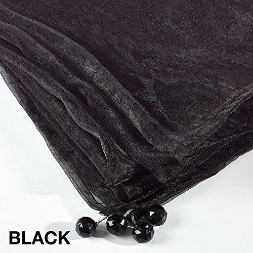 Fennco Styles Sorbet Tissue Organza Tablecloth Sheer Table Cover for Everyday Use, Banquets and Special Events