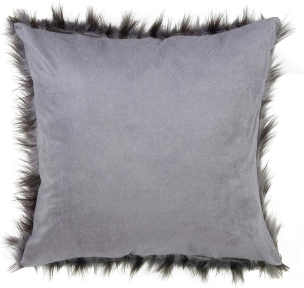 Glam Faux Fur Decorative Throw Pillow with Down Filled Insert 18 x 18 Inch