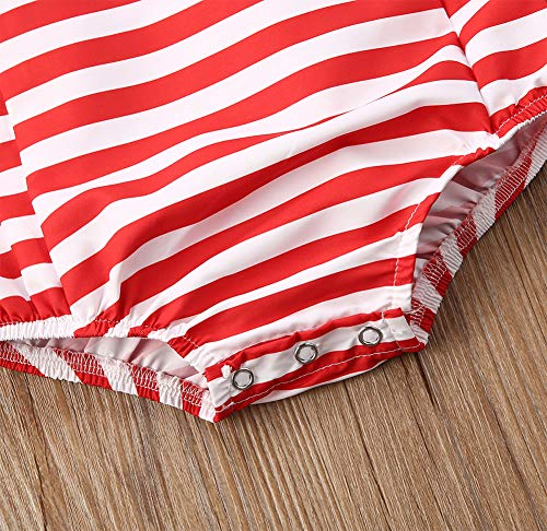 Styles I Love Infant Baby Girl Stars Stripes Design Cross Back Cotton Romper 4th of July Jumpsuit Patriotic Sunsuit Outfit