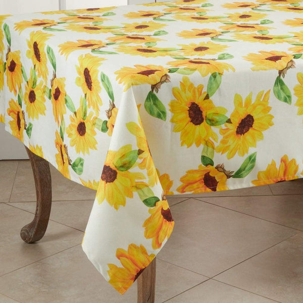 Fennco Styles Sunflower Modern Table Linen Collection - Table Cover for Home Décor, Dining Table, Banquets, Holidays and Special Occasions