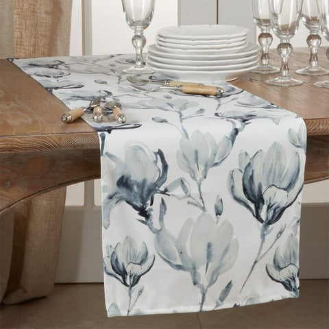 Fennco Styles Lush Watercolor Floral Table Linens Collection