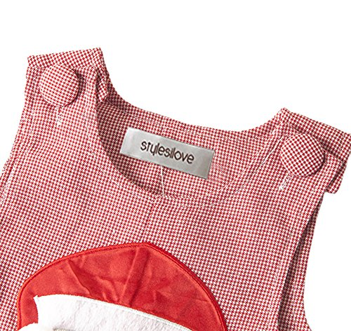 stylesilove Infant Toddler Christmas Red Baby Boy Polka Dot Santa Holiday Romper