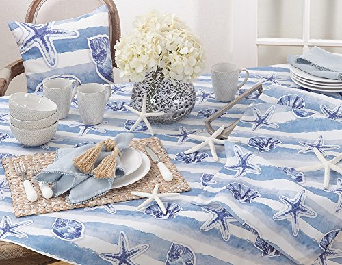 Fennco Styles Watercolor Nautical Blue Tabletop Collection