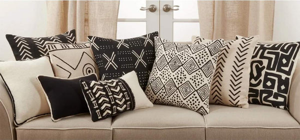 Abstract Chevron Print Cotton Decorative Throw Pillow Cover 22 x 22 Inch