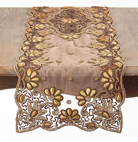 Fennco Styles Hand Beaded Tablecloth