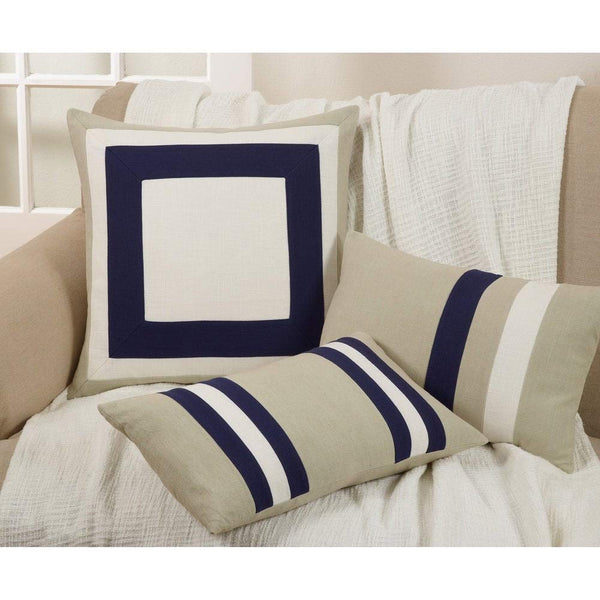 Fennco Styles Luxury Classic Panel Design Soft Cotton Down Filled Throw Pillow