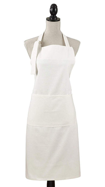 Fennco Styles Cuisine Denim Cooking Kitchen Cuisine 100% Cotton Full Sized Apron with Large Single Front Pocket