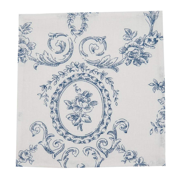Fennco Styles Toile Floral Print 100% Linen Collection