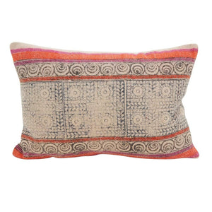 Fennco Styles Bohemian Cotton Down Filled Mix Oblong Decorative Throw Pillow
