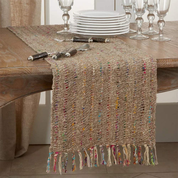 Fennco Styles Lush Thin Striped 100% Cotton Table Runner 16 x 72 Inch
