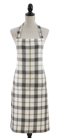 Fennco Styles Ferme Plaid Collection Classic 100% Pure Cotton Apron 24 x 36 Inch