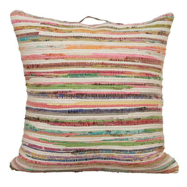 Decorative Chindi Design Floor Throw Pillow