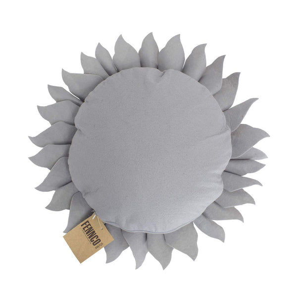 "Fennco Styles Handmade Garden 3D Sunflower Decorative Throw Pillow 13"" Round"